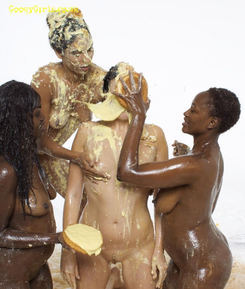 Naked pie in the face